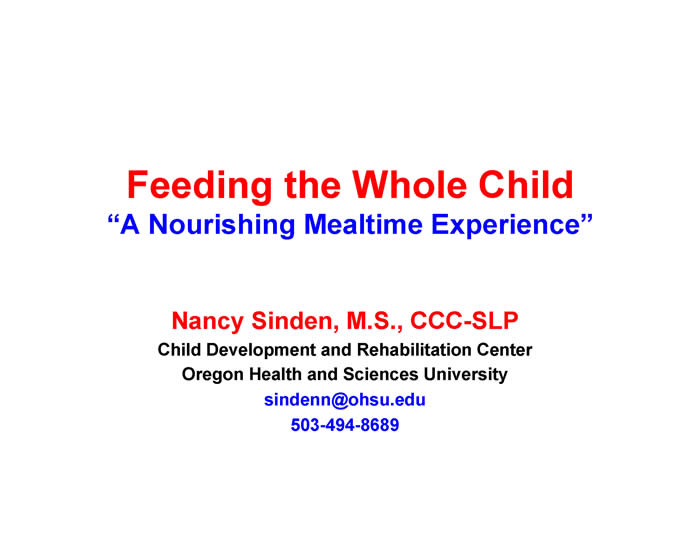 Slide from Nancy Sinden's presentation at the 2012 FOD/OAA conference