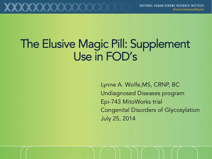 Slide from Lynne A. Wolfe's presentation at the 2014 FOD/OAA conference