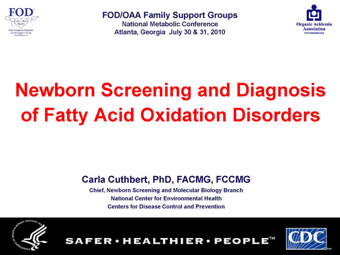 Slide from Carla Cuthbert's presentation at the 2010 FOD/OAA conference