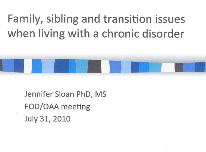 Slide from Jennifer Sloan's presentation at the 2010 FOD/OAA conference